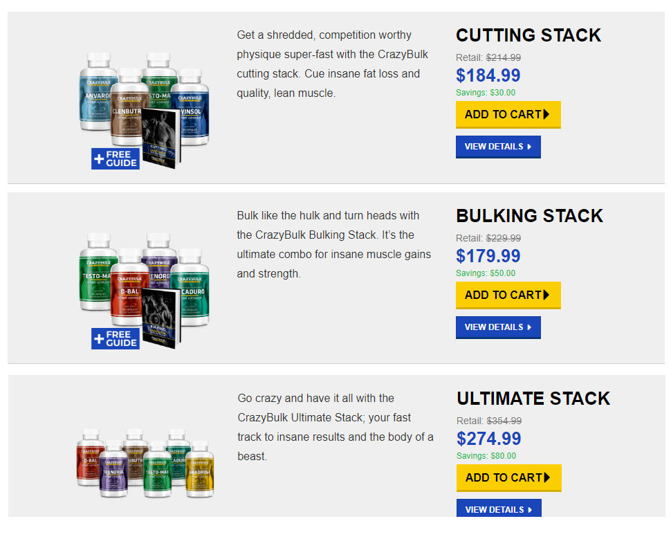 Crazy Bulk Legal Steroids Stacks